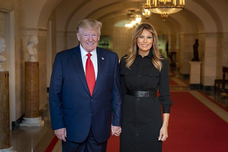 Altro che figa con cervello da gallina<br>Ritratto della first lady Melania Trump