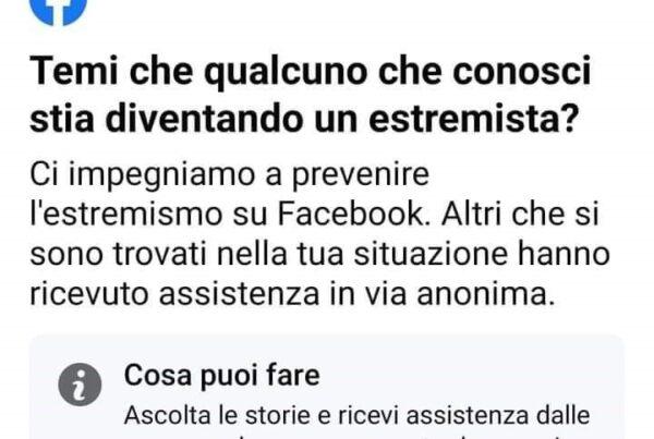 facebook estremisti